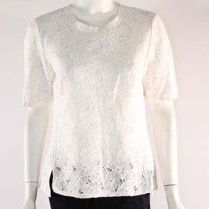 W by Worth Small Lace Short Sleeve Top